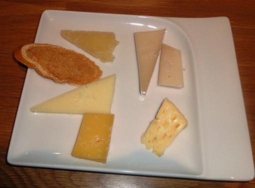 Cheeses at Copas y Tapas