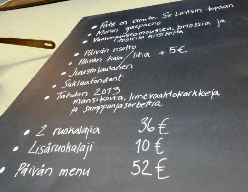 Muru menu