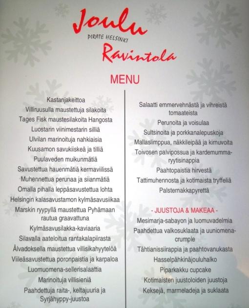 Pirate Christmas menu - reijosfood.com
