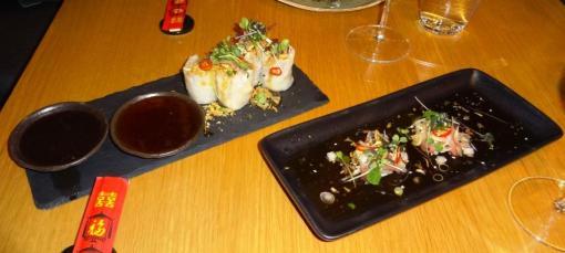 Sprubg rolls and sashimi at Yume - reijosfood.com