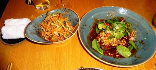 Pork ribs and salad at Yume - reijosfood.com