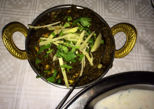 Chicken Saag at Lumbini - reijosfood.com