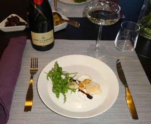 Scallops and Moet Imperial - reijosfood.com