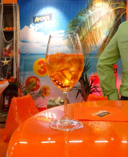 Aperol Spritz at Viini Expo 2014 - reijosfood.com
