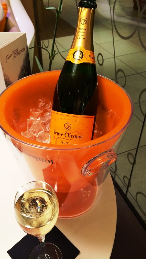 Veuve Clicquot bottle and glass
