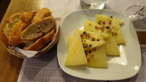 Manchego cheese at el Meson de Cervantes - reijosfood.com