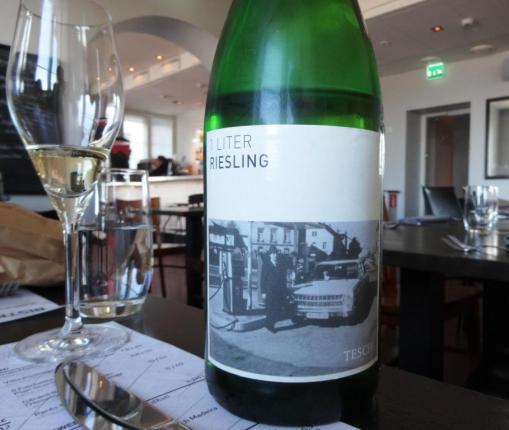 Tesch 1 litre riesling at PureBistro - reijosfood.com