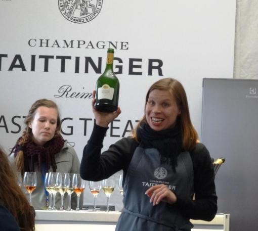 Taittinger Comtes de Champagne at Taste of Helsinki - reijosfood.com
