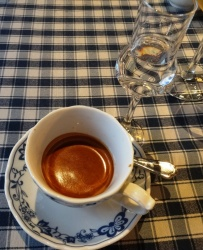 Espresso and grappa at La Bottega - reijosfood.com
