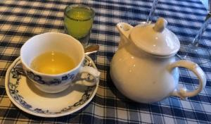 Green tee and Limocello at La Bottega - reijosfood.com