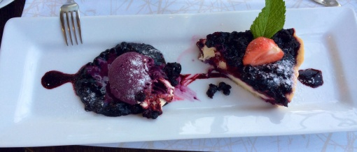 Blueberry pie at Kappeli - reijosfood.com