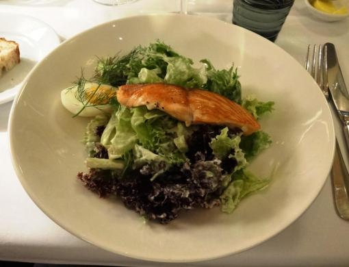 Salmon salad at Salutorget - reijosfood.com