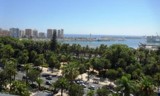 View from AC Malaga Palacio room - reijosfood.com