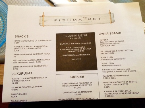 Fishmarket menu. - reijosfood.com
