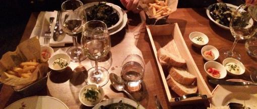 Dinner table at Rikhards