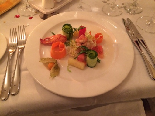 Lobster with flower garden at Ovo - reijosfood.com