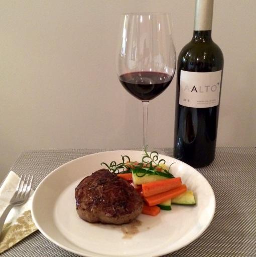 Fillet steak and Aalto wine - reijosfood.com