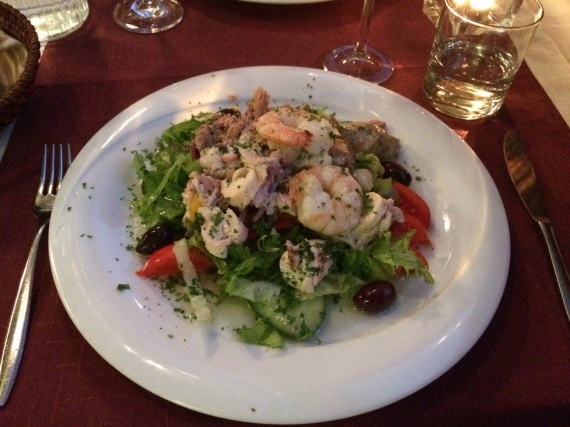 Seafood salad at Minos - reijosfood.com