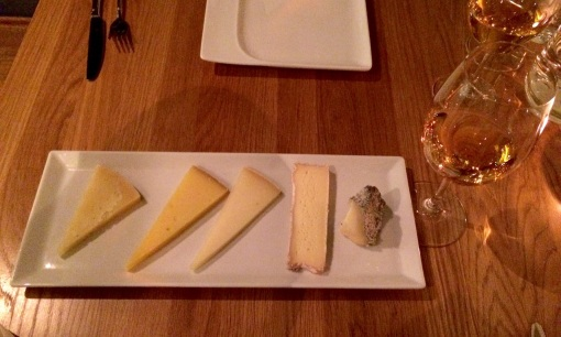 Cheese plate at Copas y Tapas