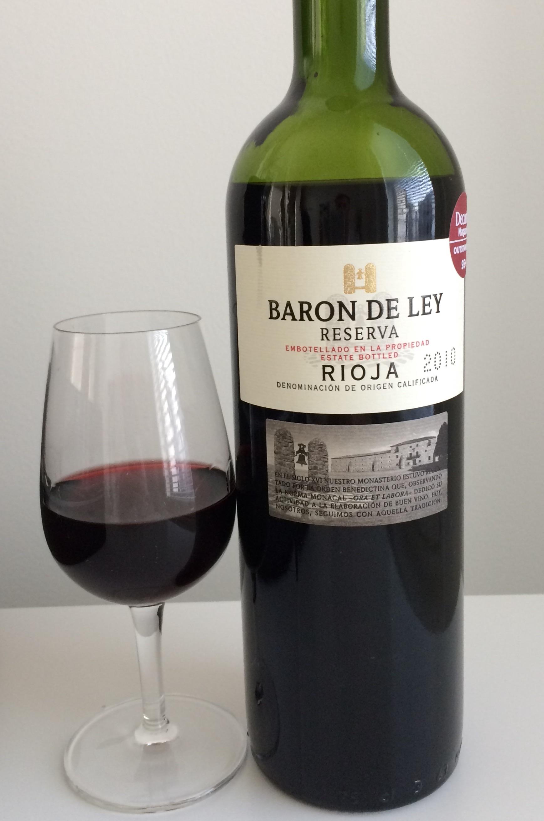 wine review baron de ley reserva 2010 reijosfood. Black Bedroom Furniture Sets. Home Design Ideas